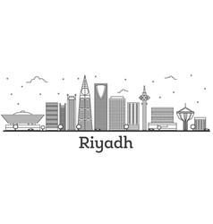 Outline riyadh saudi arabia city skyline with vector