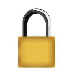 Padlock closed vector image