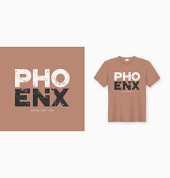 Phoenix stylish t-shirt and apparel design vector
