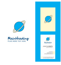 planet creative logo and business card vertical vector image