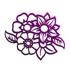 purple flower bouquet vector image