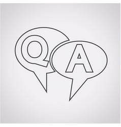 qampa symbol question answer icon vector image