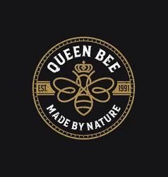 queen bee luxury logo template vector image
