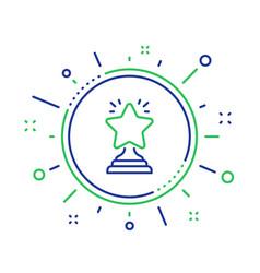 Rank star line icon success reward vector