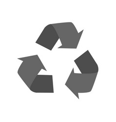 recycle sign on white background vector image