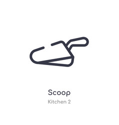 Scoop outline icon isolated line from kitchen 2 vector