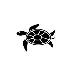 sea turtle tortoise marine reptile flat icon vector image