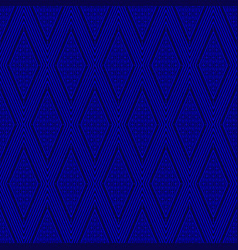 seamless thai pattern blue and white modern shape vector image