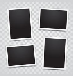 set empty photo frames vector image