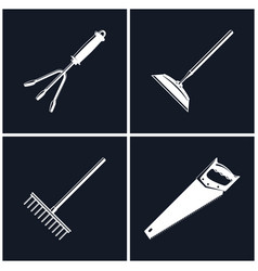 set of black farming icons vector image