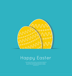 set of easter eggs with stripes polka dot vector image