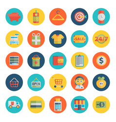 Set of shopping icons in flat design vector