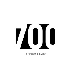 seven hundred anniversary minimalistic logo vector image