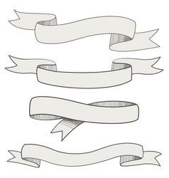 sketch ribbons vector image