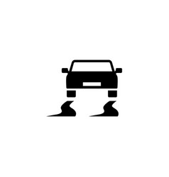 Slippery road flat icon vector