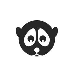 slow lori head logo black and white minimal cute vector image