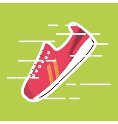 Sneaker on green backround vector