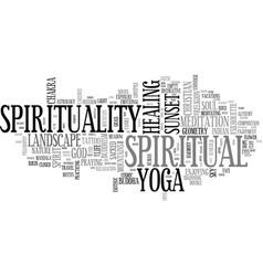 Spirituality word cloud concept vector