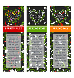 spring time sale posters set vector image