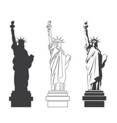 Statue of liberty world landmark american symbol vector
