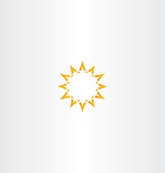 sun star yellow icon logo design vector image