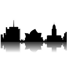 sydney cityscape silhouette vector image