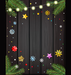 template for your wishes layout vector image