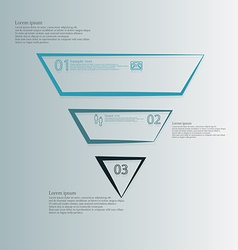 Triangle template horizontally divided to three vector