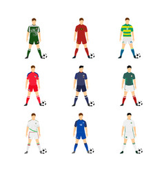 various football jersey national team world cup vector image