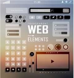 Web Elements Buttons and Labels Site Navigation vector