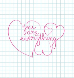 you are everything vector image