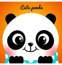 Cute little panda close-up vector image vector image