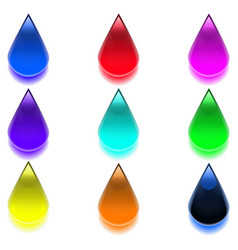 multicolored drops vector image vector image