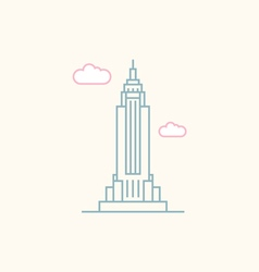 Empire State Building vector image vector image