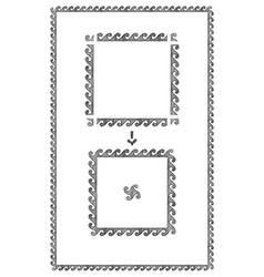 greek frame with wave vector image