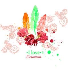 Hand drawn beautiful stylish ethnic feathers vector image vector image