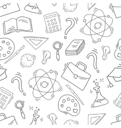 Hand Drawn Study seamless pattern vector image vector image