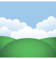 hills and blue sky vector image