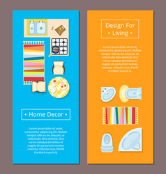 home decor design for living vector image