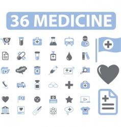 medicine web signs vector image vector image