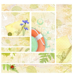 Summer Web Banner Collection vector image