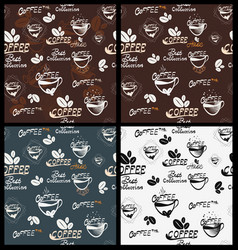 hand drawn coffee elements vector image vector image