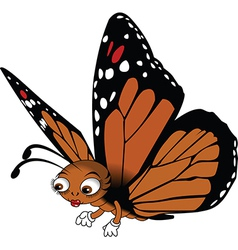Red buttefly cartoon vector image