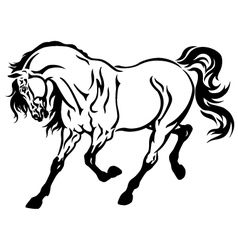 running horse tattoo vector image vector image