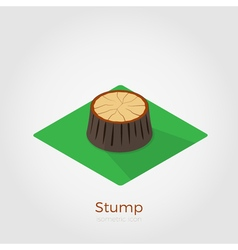 Stump isometric vector image vector image