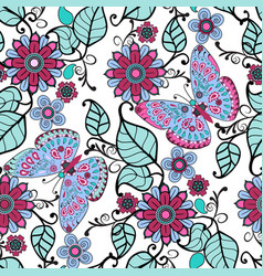 decorative pattern with floral ornament and vector image