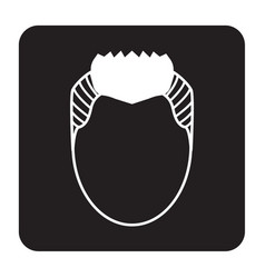 Flat color hairstyle icon vector