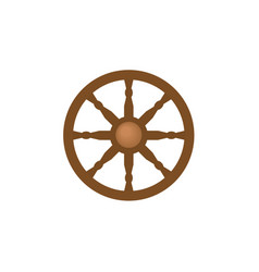 flat style ship sailboat steering wheel icon vector image