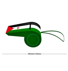A Beautiful Whistle of Western Sahara Flag vector image