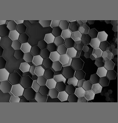 Abstract dark hexagons texture pattern vector